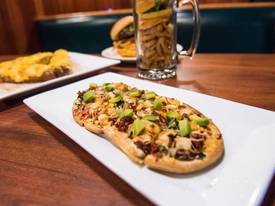 The southwest smokehouse flatbread at the Broken Clock.