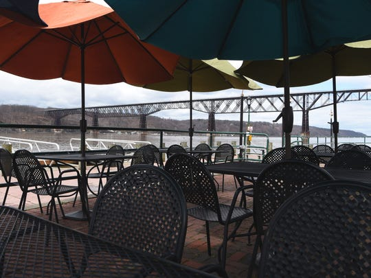 A view of the outdoor patio at Poughkeepsie Ice House