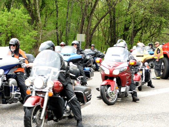 Kyle Petty's Charity Ride passed through Staunton Thursday afternoon and stopped in Goshen.