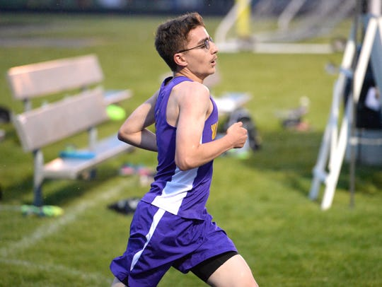 Waynesboro's Jacob Robeck won the 3,200 at Wednesday's