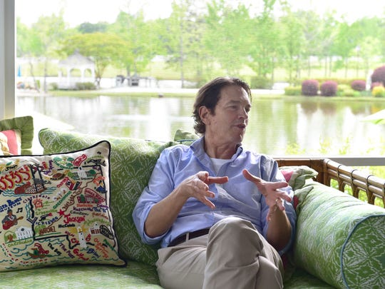 Howard Sherman on the porch of his home in Meridian.