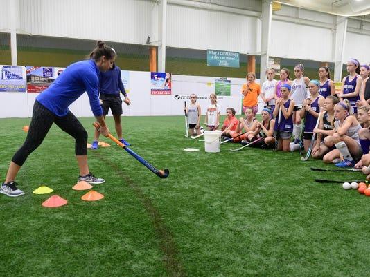 Duke Coaches Host Field Hockey Clinic For Shore Athletes