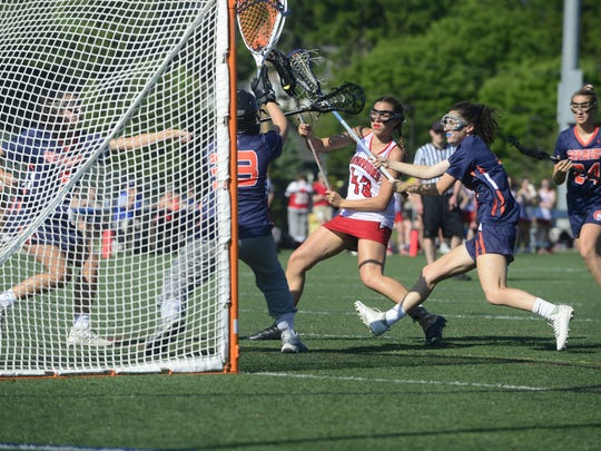 Susquehannock's Ariana Prediger scores a goal, one