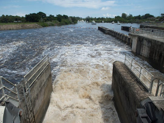 Last year, water was discharged from Lake Okeechobee through the St. Lucie Lock and Dam beginning on Wednesday, Sept. 6 in Stuart.