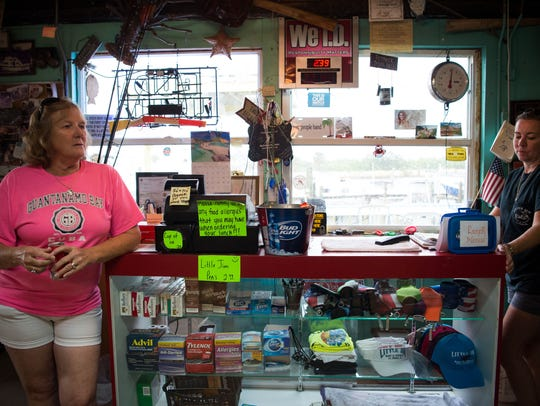 Rita and Richard King, who operate Little Jim Bait & Tackle in Fort Pierce, are retiring  from running  the business, which originally opened in the same building in 1944. The shop, starting March 1,  will be operated by the managers of the Original Tiki Bar, Diego Larrounde and Donna Qvarnstrom-Burke. The historic shop is photographed on a rainy day May 30, 2018, in Fort Pierce.