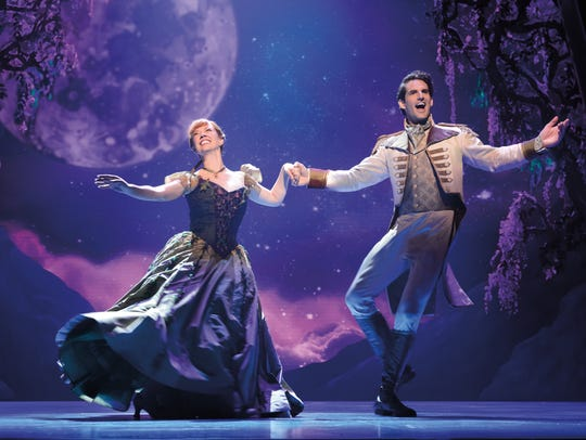 """Patti Murin and John Riddle in """"Frozen"""" the Broadway musical."""