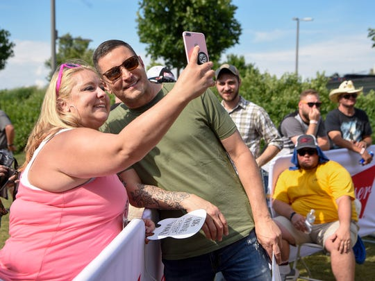 Casee Demets takes a selfie with TyHerndon after he