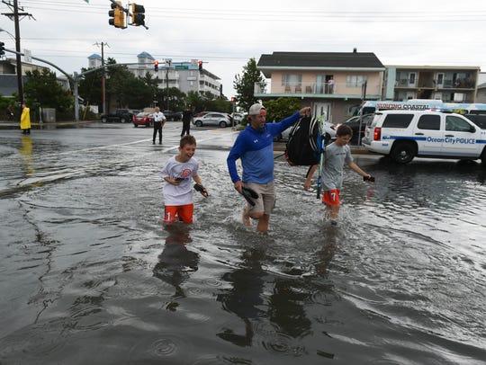 Heavy rains fell in Ocean City on Saturday, June 9,
