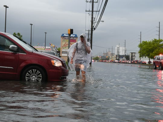 Heavy rains fell in Ocean City on Saturday, June 9, 2018 causing heavy flooding in North Ocean City.