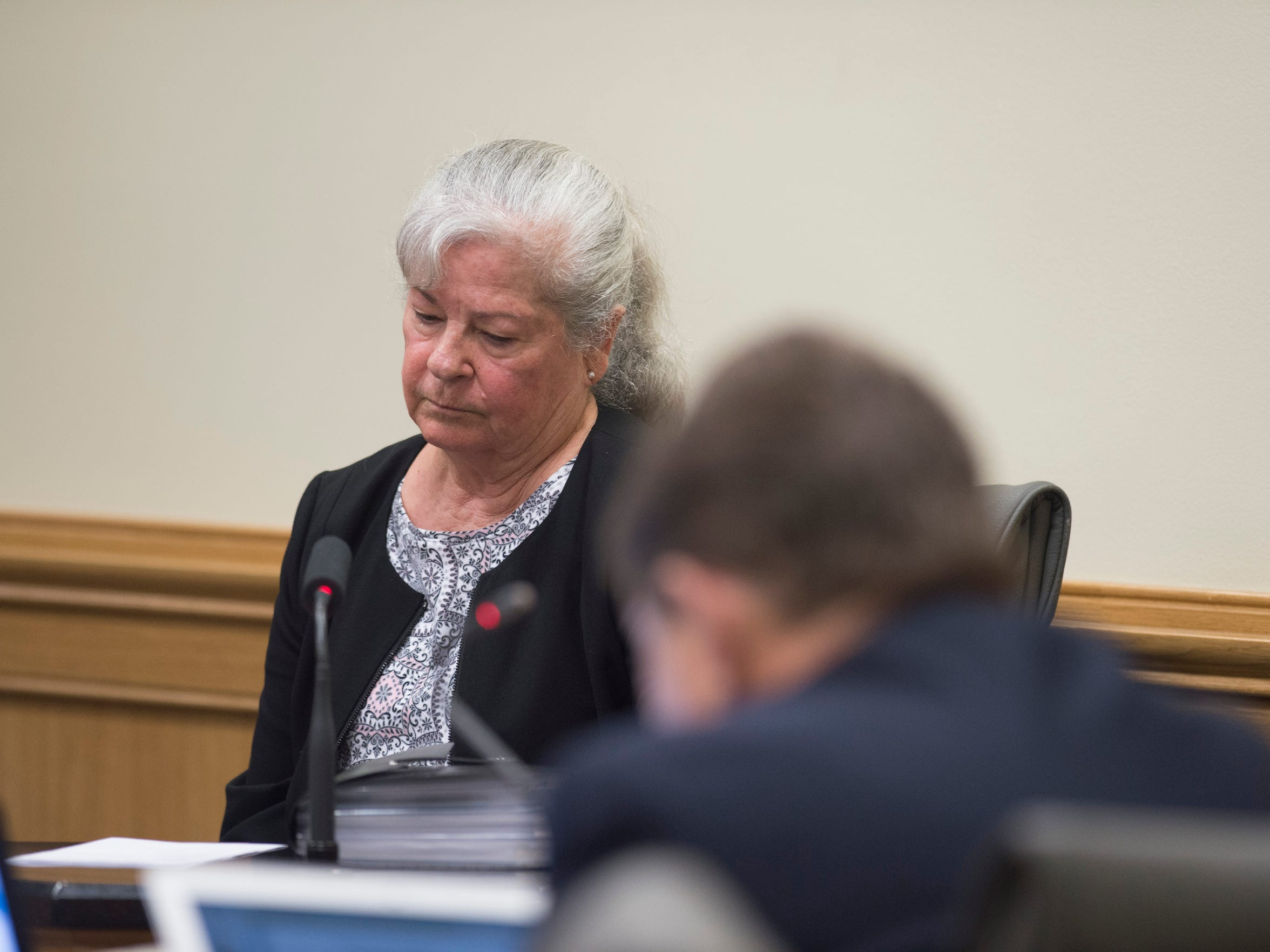 "Joan Waldron, former Stuart Police Chief and lead detective on the 1977 murder of Gertrude Trbovich, testified against killer James Morgan during his resentencing hearing Monday, June 11, 2018 at the Martin County Courthouse in Stuart. ""The amount of blood was extreme,"" Waldron said as she testified for the prosecution, also noting that homicides in Stuart were ""vary rare"" at the time."