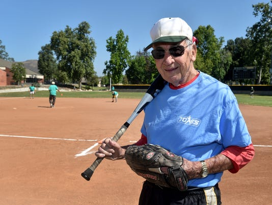 90-year-old softball player