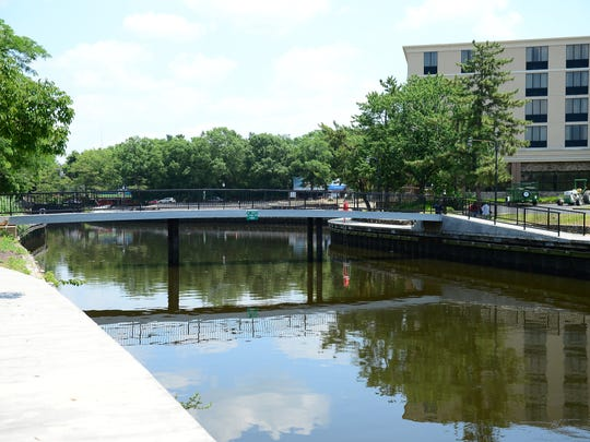 The riverwalk is situated next to the City of Salisbury's