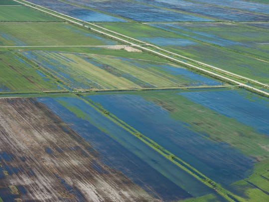 An aerial image shows Caulkins Water Farm on Thursday,