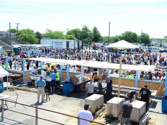 Somers Cove Marina is packed during the 42nd Annual