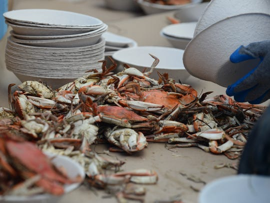 Steamed crabs are flowing during the 42nd Annual J.