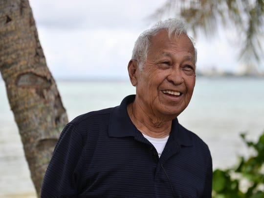 Justo Torre Leon Guerrero, 88, reminisces about prewar Hagatna on July 19, 2018.