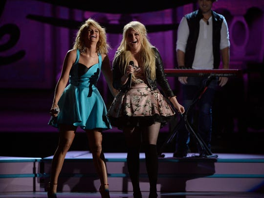 "Miranda Lambert and Meghan Trainor perform  ""All About"