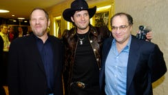 Bob Weinstein, right, is now being accused of the behavior