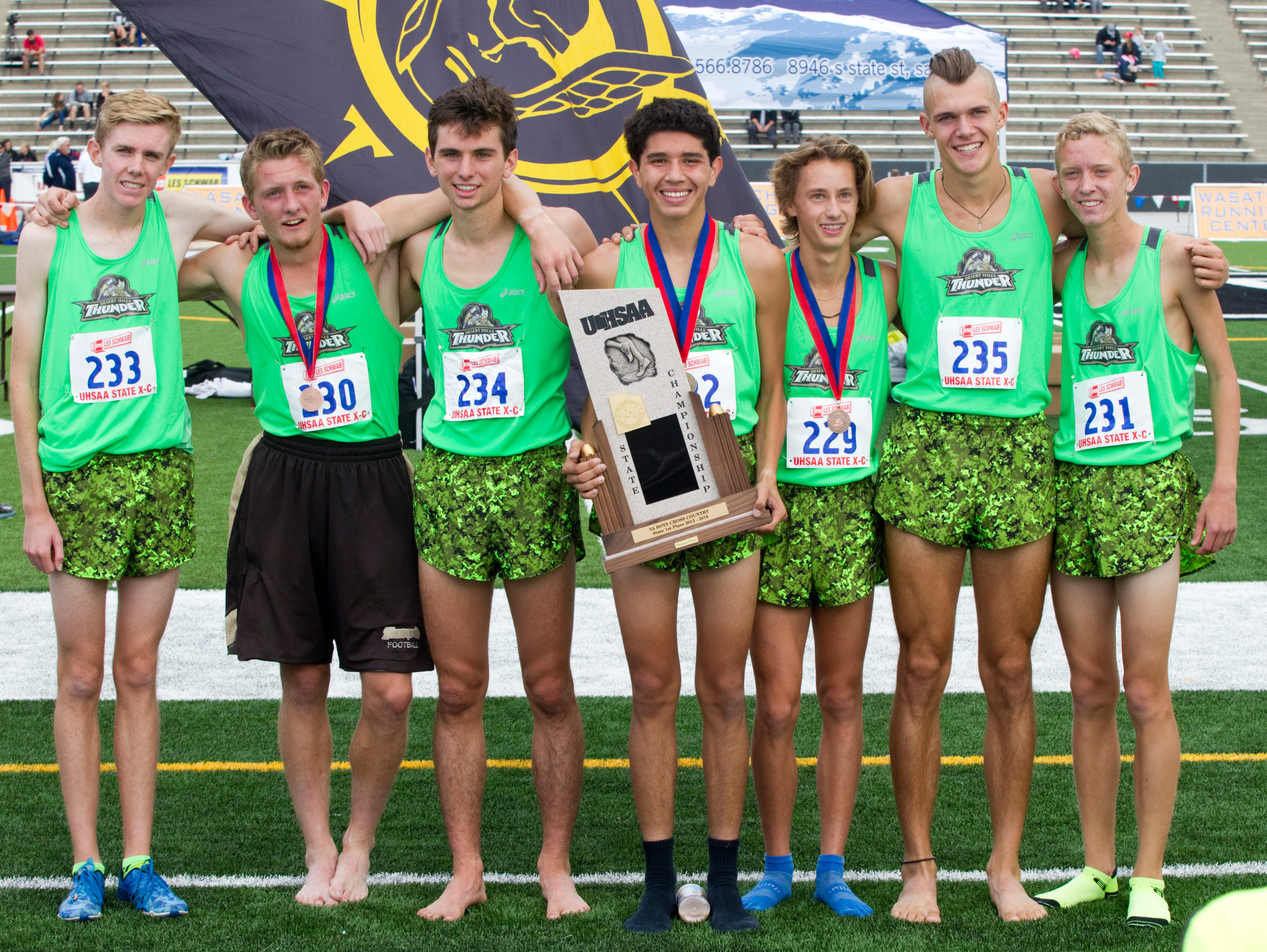 Desert Hills won yet another Boys 3A State Cross Country Championship.