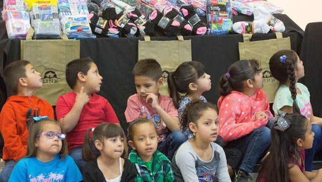 A kindergarten class at Booker T. Washington Elementary School in Las Cruces is seen in 2018.