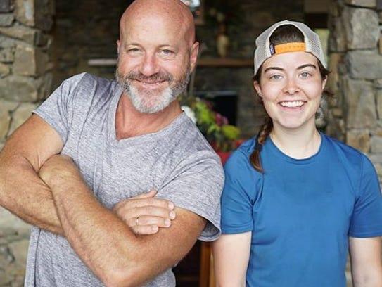 Tom Hafer with Erin Leist.