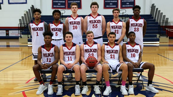The Carolina Day boys basketball team.
