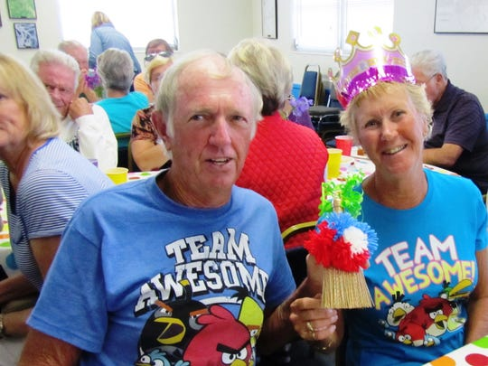 George and Connie Taylor, two of Capri Bocce League's long-time players always seem to enjoy the End-of Season Party with friends and are looking forward to 2017 team play.  They also are the volunteer Court Maintenance crew.