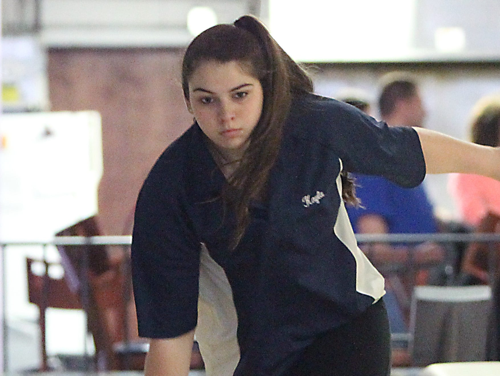 Rockland bowler of the year Kayla Dobrinski of Suffern at New City Bowl March 25, 2016.
