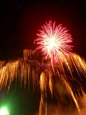 Fireworks fill the sky in a previous year's event.