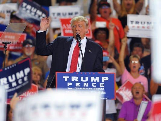 USP NEWS:DONALD TRUMP IN MELBOURNE A USA FL