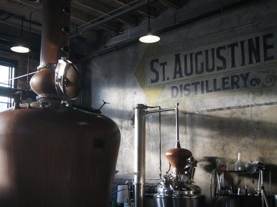 "St. Augustine's Distillery and Ice Plant, housed in a 1917 renovated ice manufacturing plant, specializes in crafting small batch spirits using local ingredients to produce bourbon, rum, vodka and gin. There are free tours of the working distillery with tastings of premium grade spirits. Next door, the Ice Plant restaurant is memorable with its fun ""speak-easy"" theme, authentic restoration and décor, and servers dressed in 1920s attire."