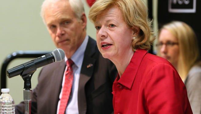 Wisconsin's U.S. senators, Ron Johnson and Tammy Baldwin.