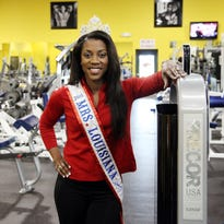 Mrs. Louisiana America Juanita Prejean at her business, Big Poppa's Gym, in Carencro. Prejean won the state title in Baton Rouge March 21 and will move on to the national pageant.