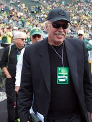 Nike founder Phil Knight at Autzen Stadium.