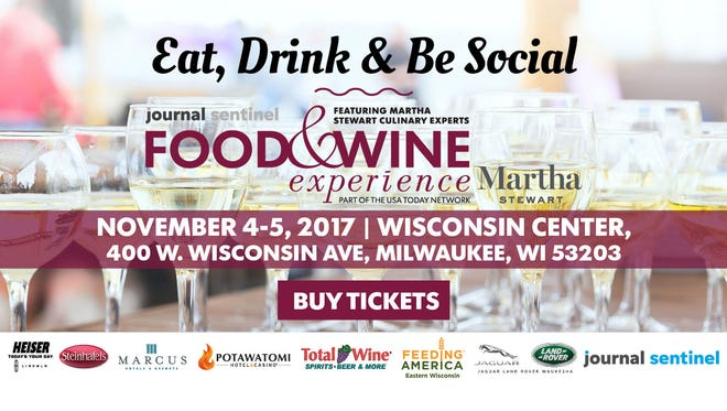 Discounted tickets available for Insiders to Journal Sentinel's Food & Wine Experience November 4-5, 2017.