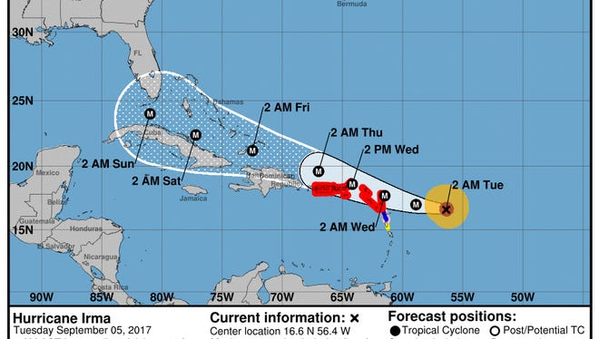 Hurricane Irma 5 a.m. Sept. 5, 2017