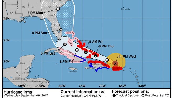 The update on Hurricane Irma's progress at 11 p.m. Wednesday.