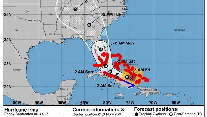 Hurricane Irma Friday 11 a.m.