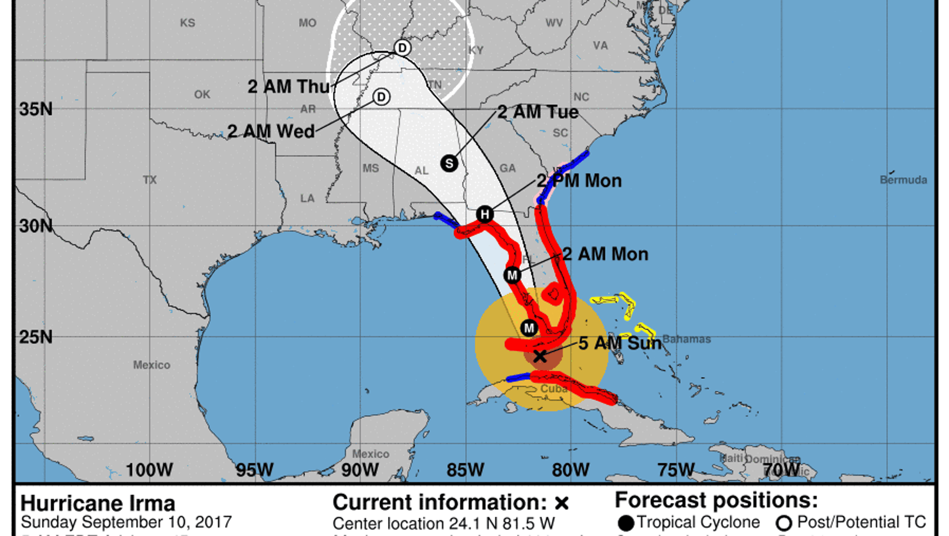 Hurricane Irma 5 Am Update Eye Of Storm Expected To Move Over