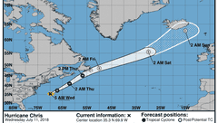 Chris a Category 2 hurricane; storm moving away from the U.S.
