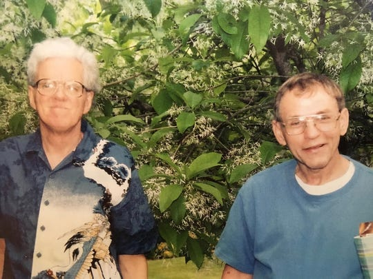 """Roommates and best friends Bobby Yowell and Gary Kiracofe. Kiracofe died in his home in Staunton on Sept. 20, 2017. Yowell and Kiracofe were roommates for 45 years. """"He and Bobby were family,"""" says Steve Tabscott, Kiracofe's coworker at Staunton Public Library. """"And Bobby transitioning out a couple months ago was very difficult for him."""""""