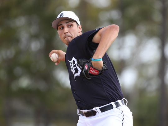 Tigers pitcher Alex Faedo took the mound for the first