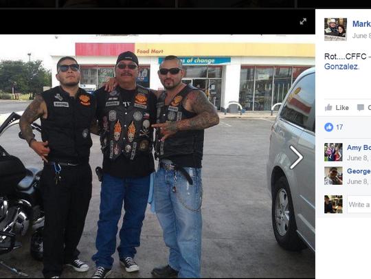 Mark Gonzalez is a member of Calaveras motorcycle club.