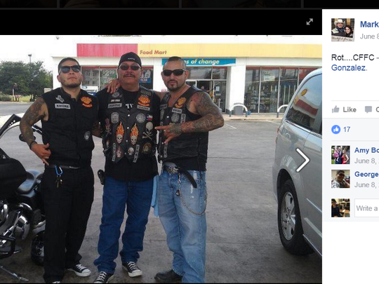 Mark Gonzalez is a member of Calaveras motorcycle club. Some have speculated it is a gang.