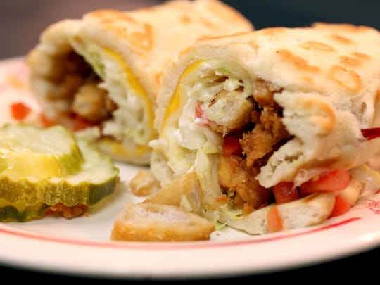The Hani sandwich made with a pita bread specially made for National Coney Island is their most popular menu item that made it's debut in 1985.