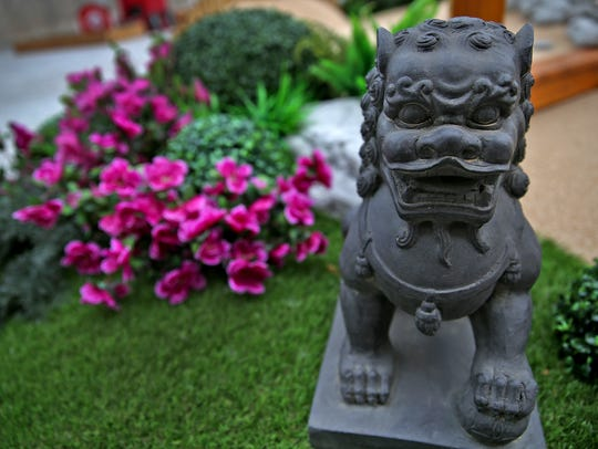 The Stroll Gardens hole is peaceful with Asian motifs,