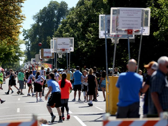 20th Annual Hoopla: Downtown Salem turns into the nation's second largest 3-on-3 basketball tournament for this three-day hoop festival featuring activities including a 3-on-3 and 2-on-2 tournament, free Kids Clinic, contests, food booths and music, August 3-5 on the streets surrounding the Oregon State Capitol Building, 900 Court St. NE, Salem. Free for spectators. oregonhoopla.com.