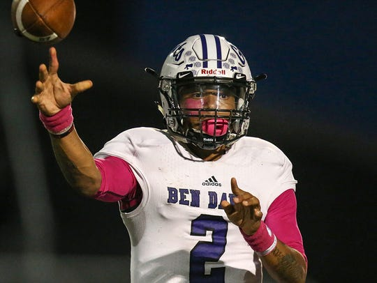 Ben Davis quarterback Reese Taylor is committed to