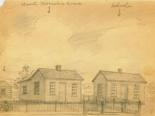 Two Room Neosho School Attended By George Washington