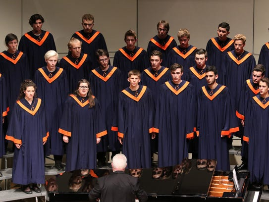 Sprague performs during the OSAA 6A State Choir Championships